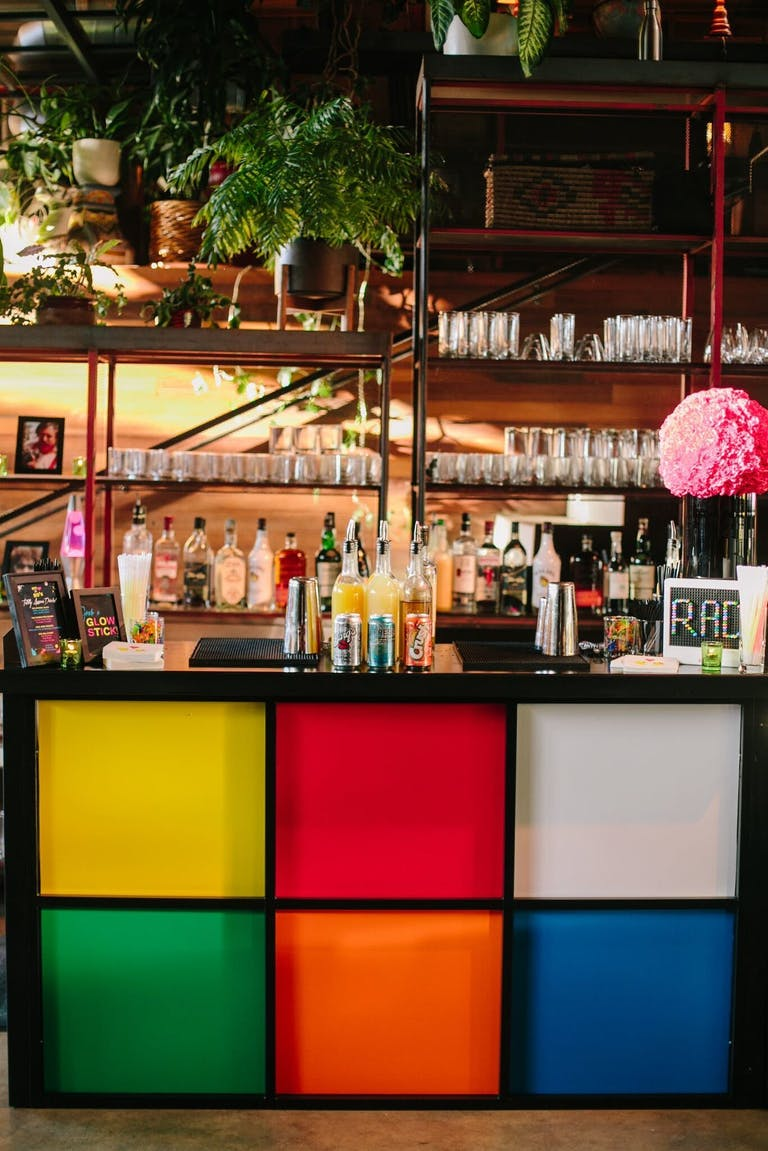 Birthday Bar With Rubik's Cube Front Panel | PartySlate