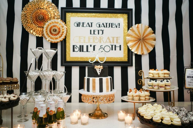Great Gatsby Theme Party With an Array of Delicious Desserts | PartySlate