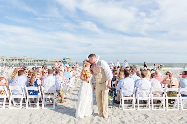 White beachside wedding in Charleston   Partyslate
