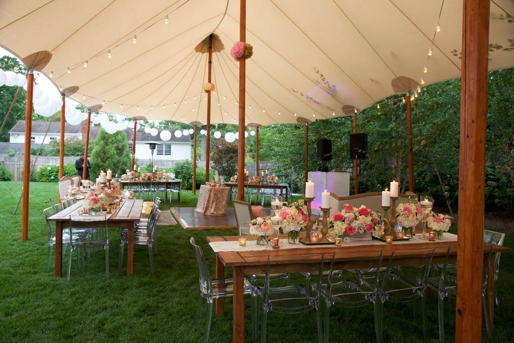 Outdoor Sweet 16 Party With Pole Tent | PartySlate