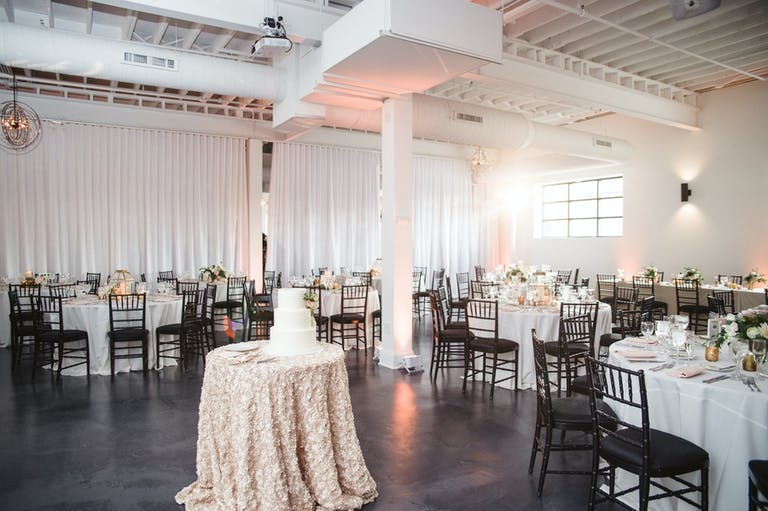 Wedding Celebration in Soft Pink and Neutral Tones at The Lakewood in Chicago's West Loop | PartySlate