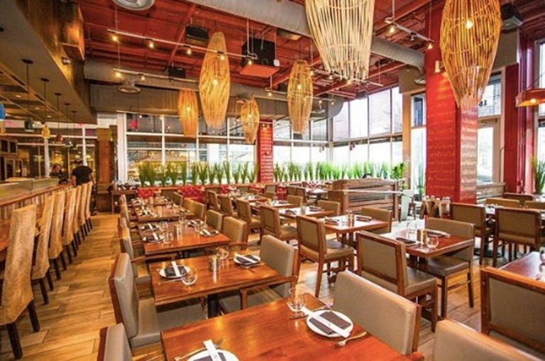 An Elevated Space that out-dos all restaurants with private rooms in Miami. Sophisticated, bright and wood furnished | PartySlate