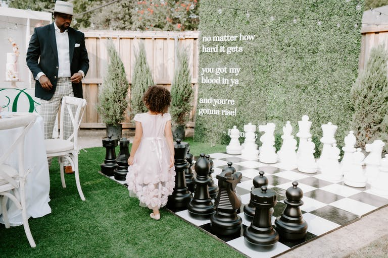 Kids Beyoncé-Themed 4th Birthday Party with Giant Outdoor Chess Game | PartySlate