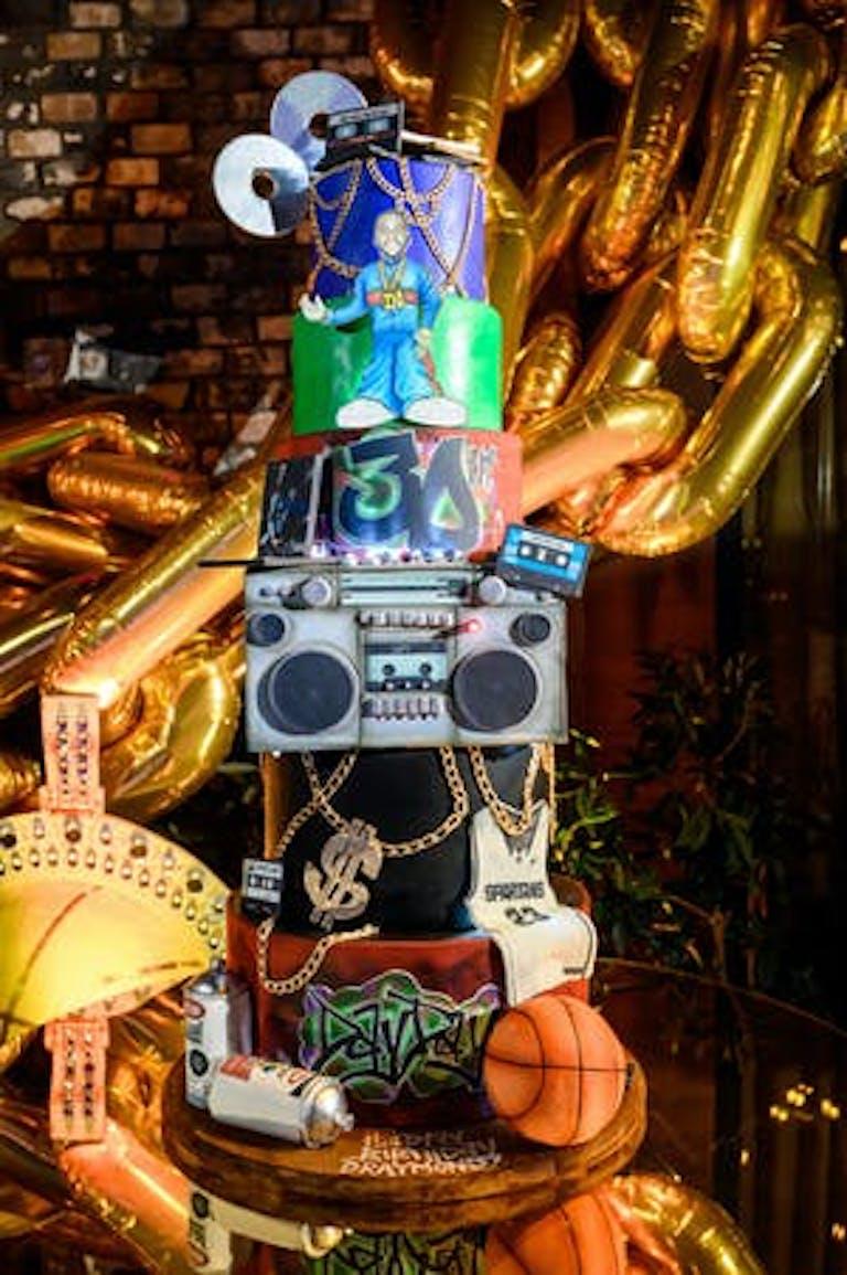 NBA Players 90's inspired birthday cake | PartySlate