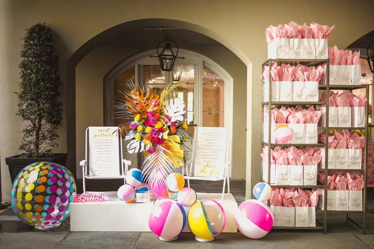 Pool Party Swag Station With Beach Ball Décor | PartySlate