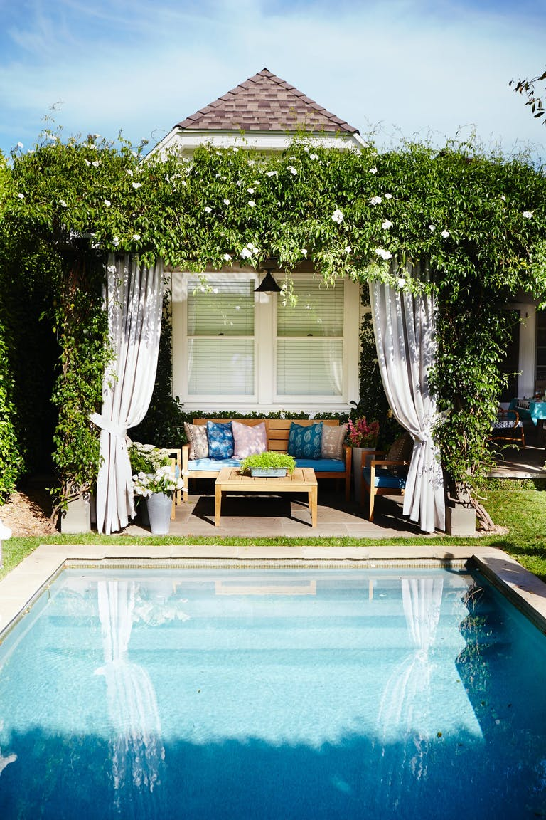 Pool Party Cabana With Greenery | PartySlate