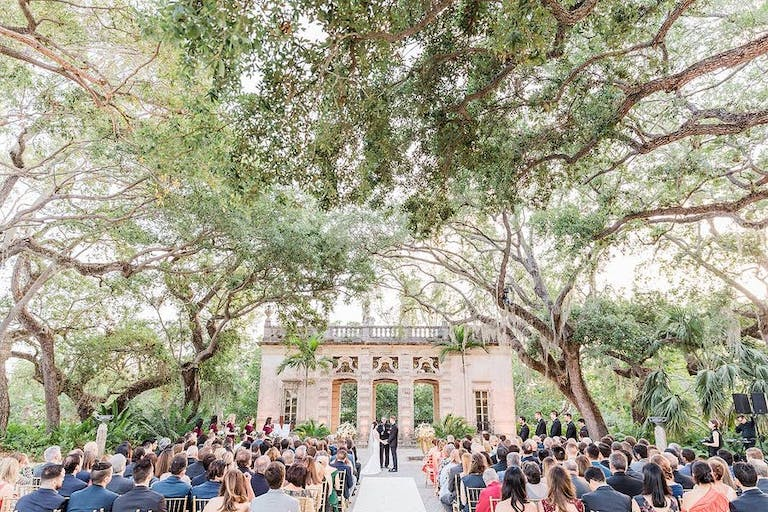 Outdoor wedding venues in Miami with overarching trees | PartySlate