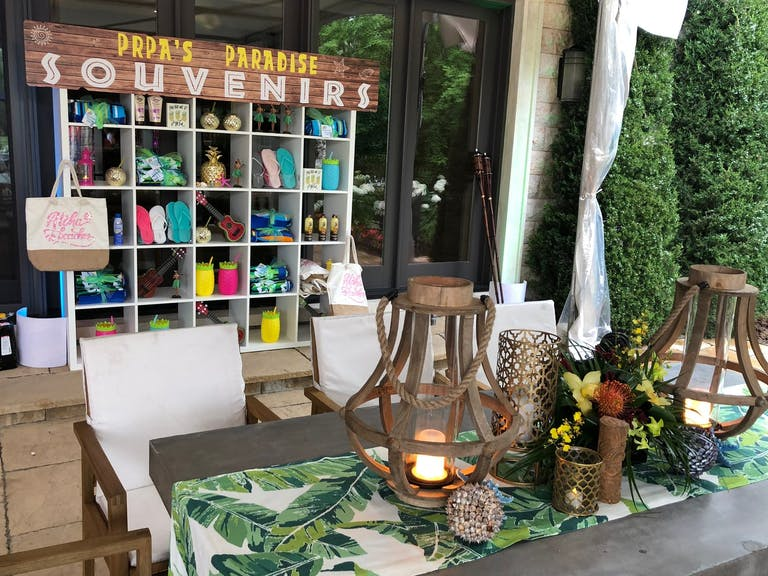 Tropical-Themed Pool Party Souvenir & Swag Station | PartySlate