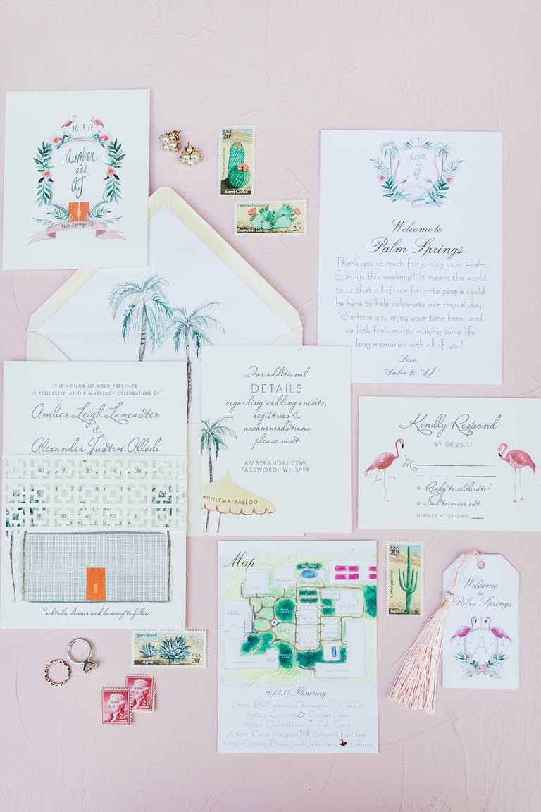 Romantic Pink Wedding at Parker Palm Springs in Palm Springs, CA