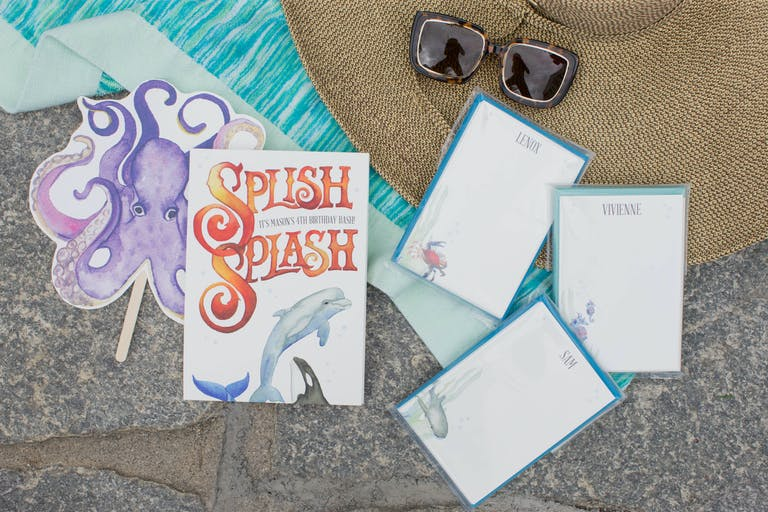 Under The Sea Kids Birthday Party Octopus Splish Splash Invitations in New York, NY | PartySlate