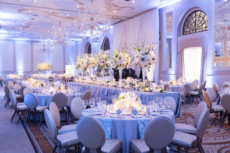 White & Blue Wedding at The Adolphus, Autograph Collection in Dallas, TX