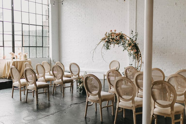 Industrial Warehouse Event Space with all white walls and open space | PartySlate