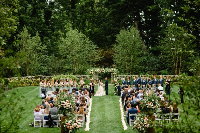 Outdoor wedding at a glamorous and unique estate | PartySlate