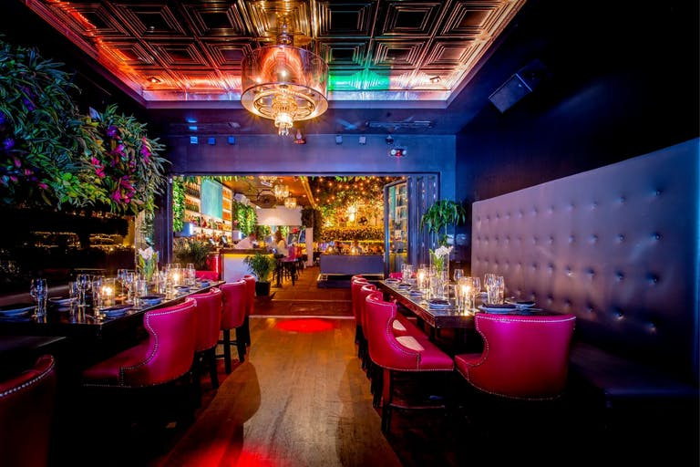 Bâoli Miami Private Dining Venue With Colorful and Vibrant Lighting | PartySlate