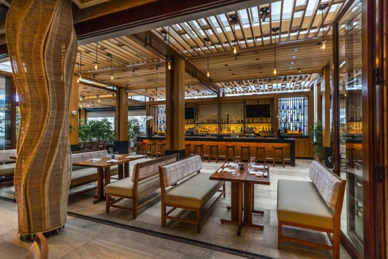 Nobu Miami at Nobu Hotel Miami Beach With Copper Tones and Textured Woods | PartySlate
