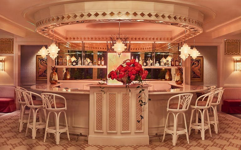 Swan & Bar Bevy in Glowing Pink Color Palette for Miami Design District Private Dining | PartySlate