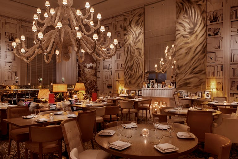 The Bazaar by José Andrés Dining Room With Coral Chandelier | PartySlate