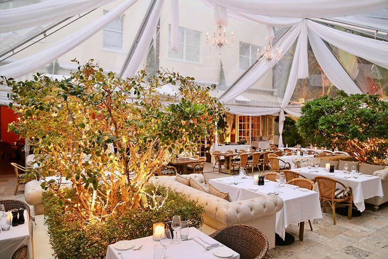 Tented Private Party in The Courtyard at Villa Azur in Miami Beach | PartySlate