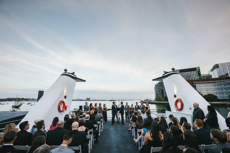Spacious boat deck wedding on yacht | PartySlate