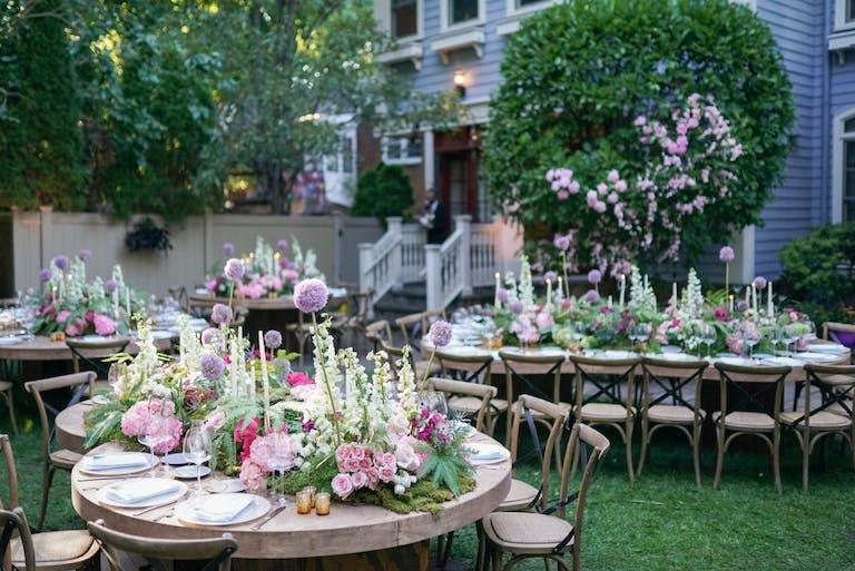 Outdoor Micro Wedding With Unique Floral Décor   PartySlate