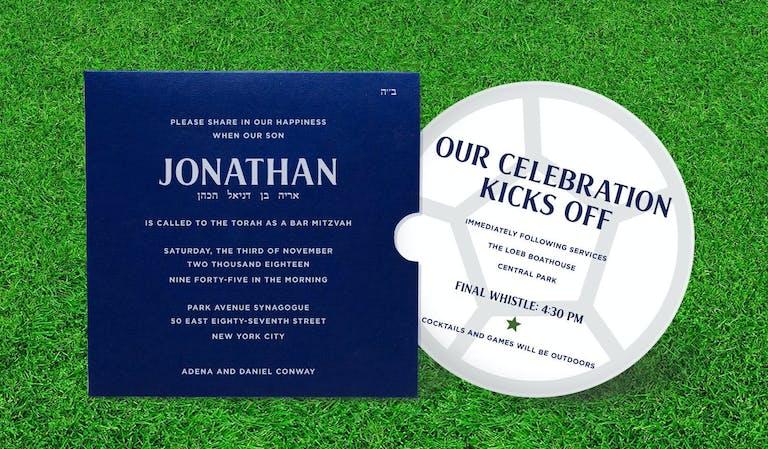 Soccer-Theme Bar Mitzvah Invites | PartySlate