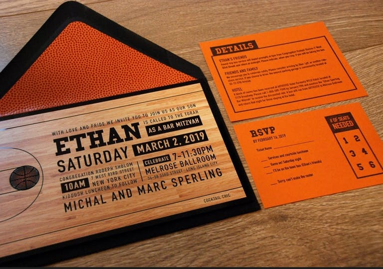 March Madness-Theme Bar Mitzvah Invitations | PartySlate