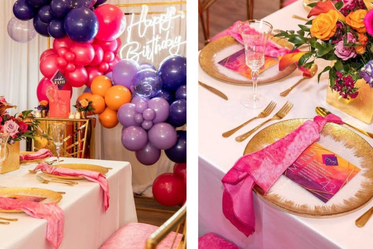 Pink and Purple Birthday Party With Rentals by Luxurious Prestigious Rentals | PartySlate