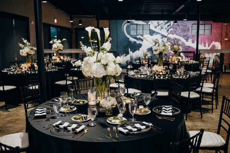 Modern Black and White Wedding Planned by Vanessa Hayward Events | PartySlate