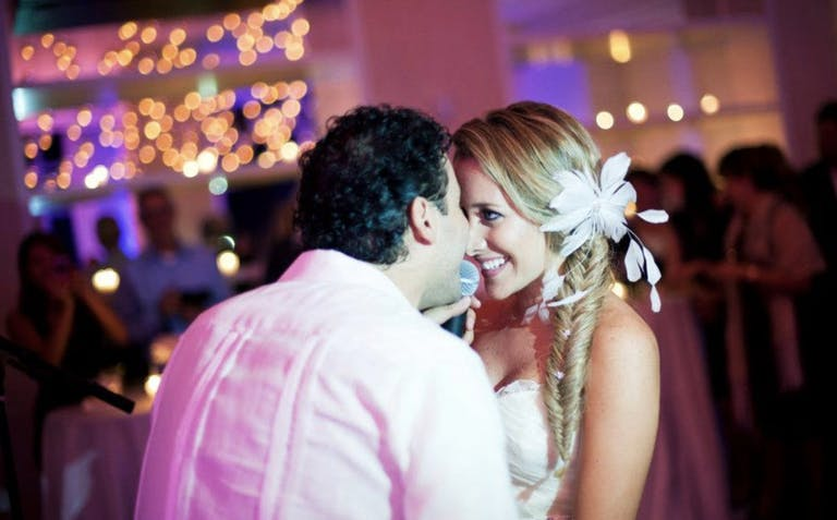 Bride and Groom Touch Foreheads While Dancing at The Ritz-Carlton Bal Harbour | PartySlate