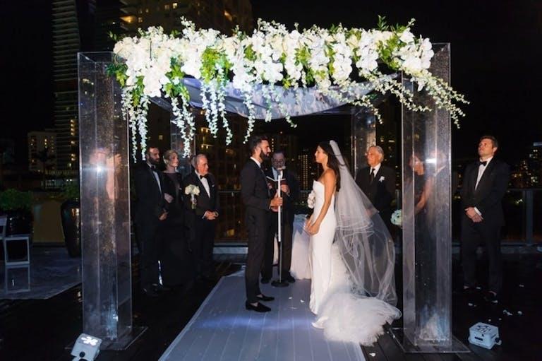 Evening Jewish Wedding Ceremony at SLS South Beach | PartySlate