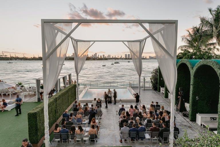 WHITE WEDDING AT THE MONDRIAN, SOUTH BEACH | PartySlate