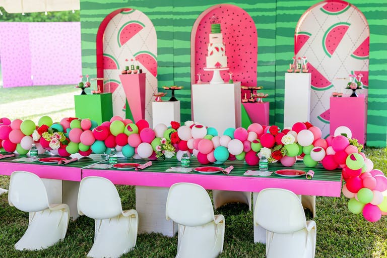 Watermelon-Themed Kids Birthday Party | PartySlate