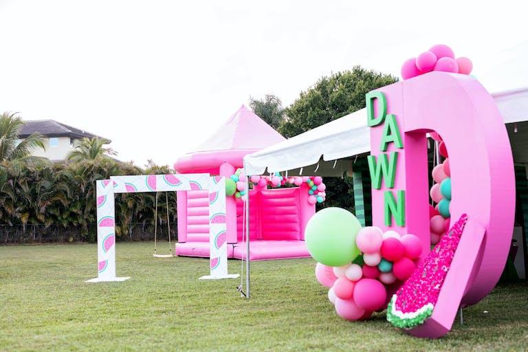 Custom Décor for Watermelon-Themed Kids Birthday Party | PartySlate