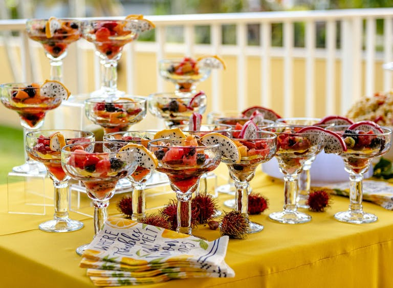 Fruit Cups in Martini Glasses for Bridal Shower Catering | PartySlate