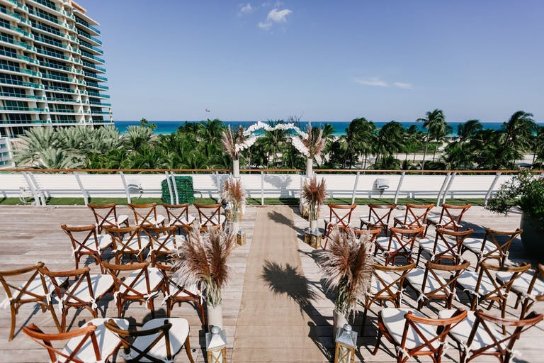Outdoor Boho-Chic Wedding Ceremony at The Betsy — South Beach | PartySlate