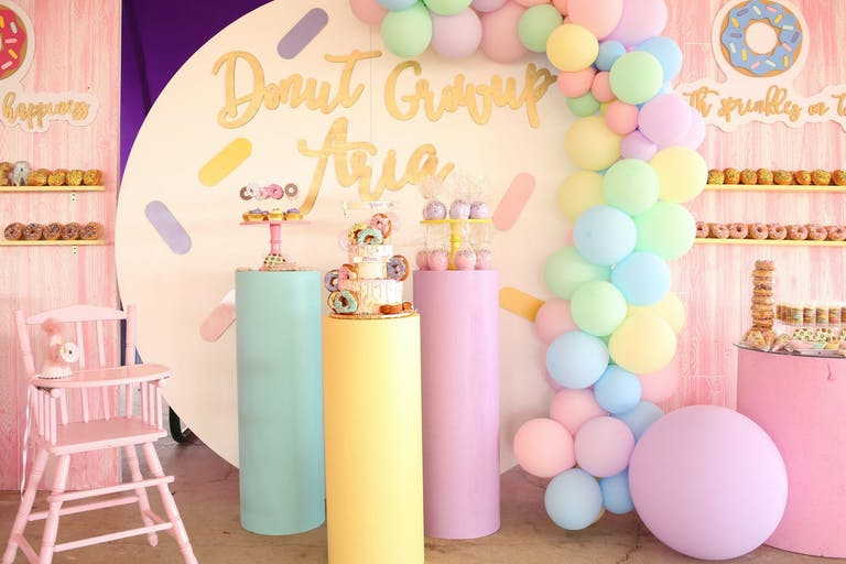 Donut-Themed First Birthday Party in Pastel Hues | PartySlate