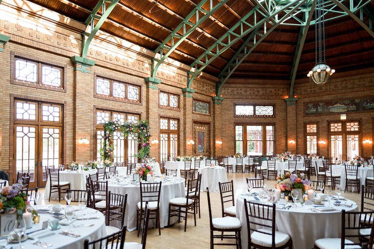 July Summer Wedding Reception at Café Brauer at Lincoln Park Zoo   PartySlate