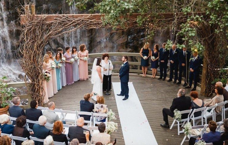 Outdoor Rustic Style Wedding at Calamigos Ranch in Malibu, CA   PartySlate