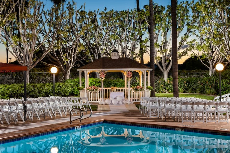 Poolside Wedding at DoubleTree BY Hilton in Carson, CA   PartySlate