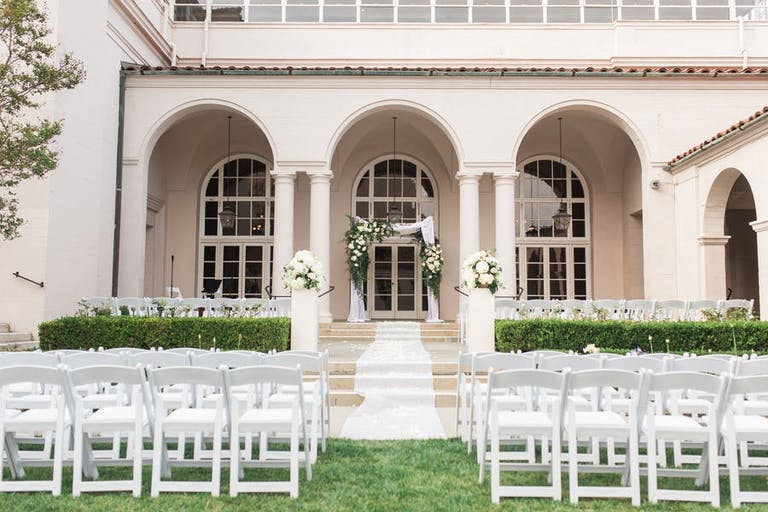 Outdoor Courtyard Wedding at The Ebell of Los Angeles, CA   PartySlate