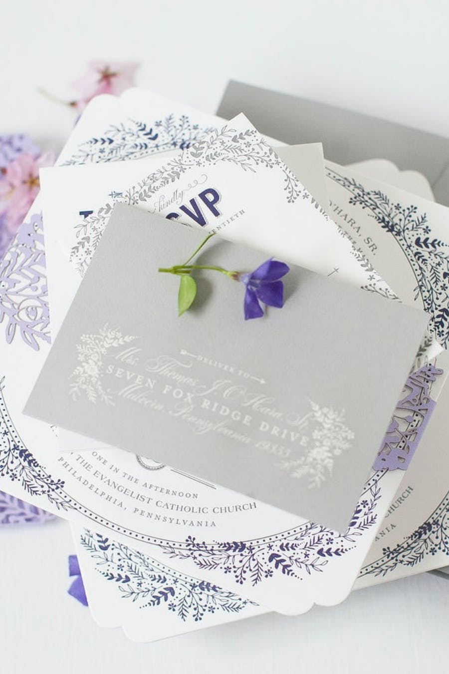 ROMANTIC LAVENDER WEDDING SUITE IN WAYNE BY TPD DESIGN HOUSE | PARTYSLATE