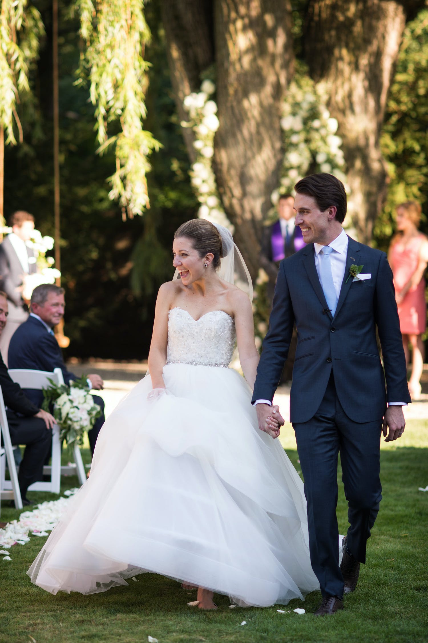 Wedding Recessional at Private Home in Chicago Suburbs Planned by SQN Events | PartySlate