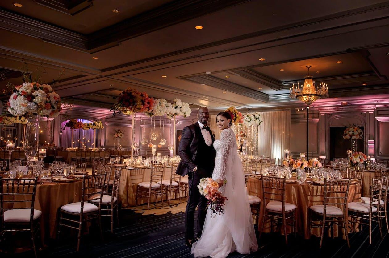 Bride and Groom at Luxury Wedding at The Ritz-Carlton Atlanta, a Premier Atlanta Wedding Venue   PartySlate