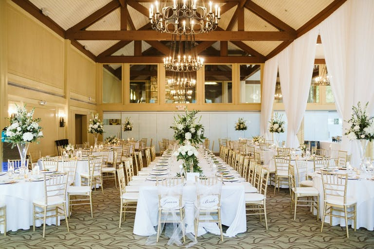Elegant White Wedding Reception at The Country Club of the South in Johns Creek, GA   PartySlate
