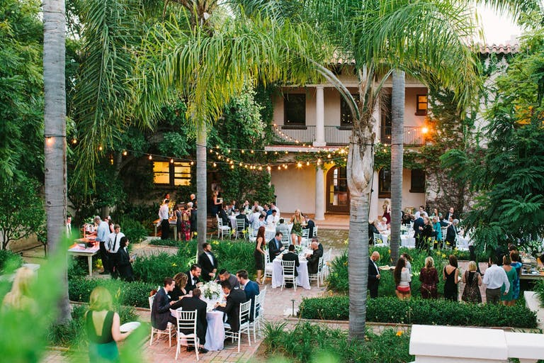 Outdoor Wedding at Wattles Mansion and Gardens, a Los Angeles Wedding Venue   PartySlate