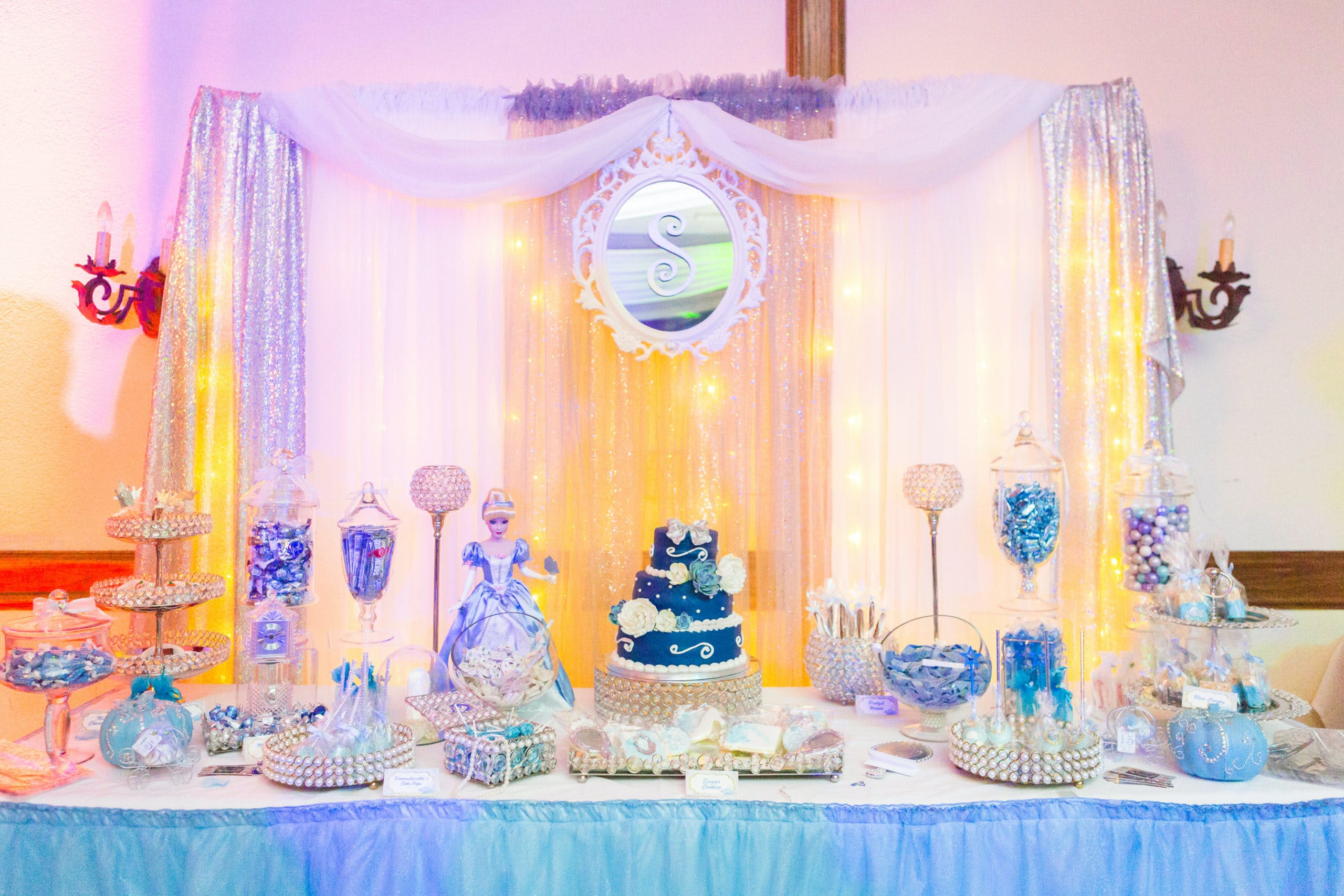 Cinderella-Themed Quince Dessert Station | PartySlate