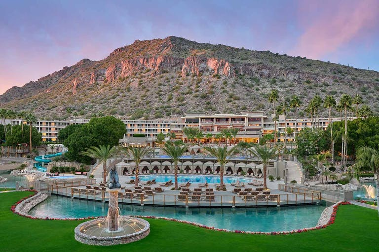 The Phoenician, a Luxury Collection Resort, Scottsdale Against a Mountain Backdrop   PartySlate