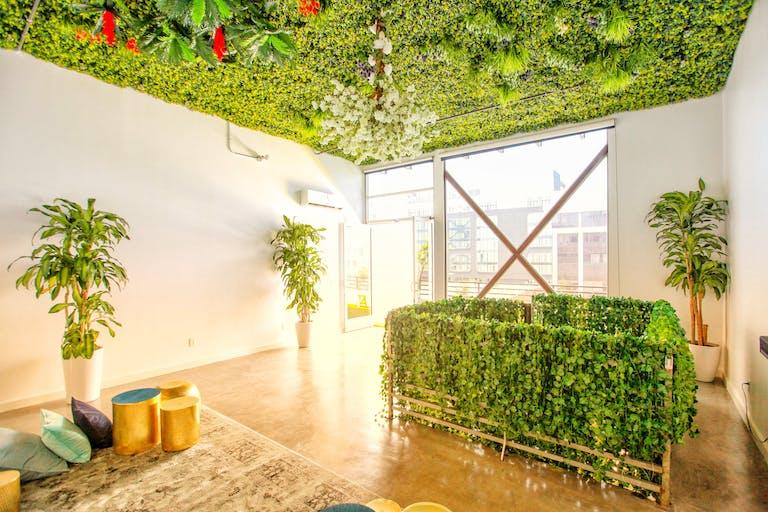 Secret Garden Loft Event Space With Garden Ceiling in Los Angeles, CA   PartySlate