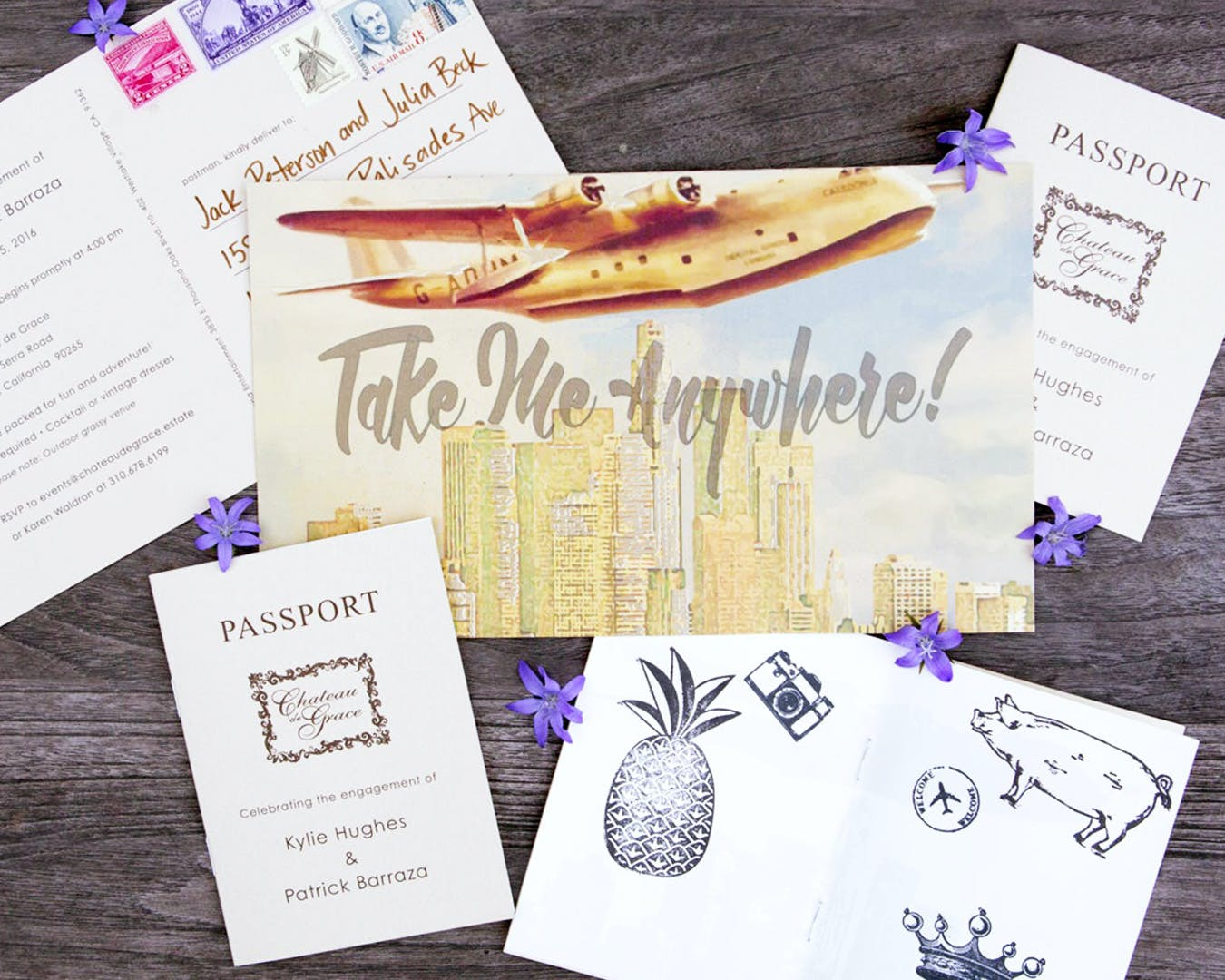 Aviation-themed party invitations for aviation-themed engagement party | PartySlate