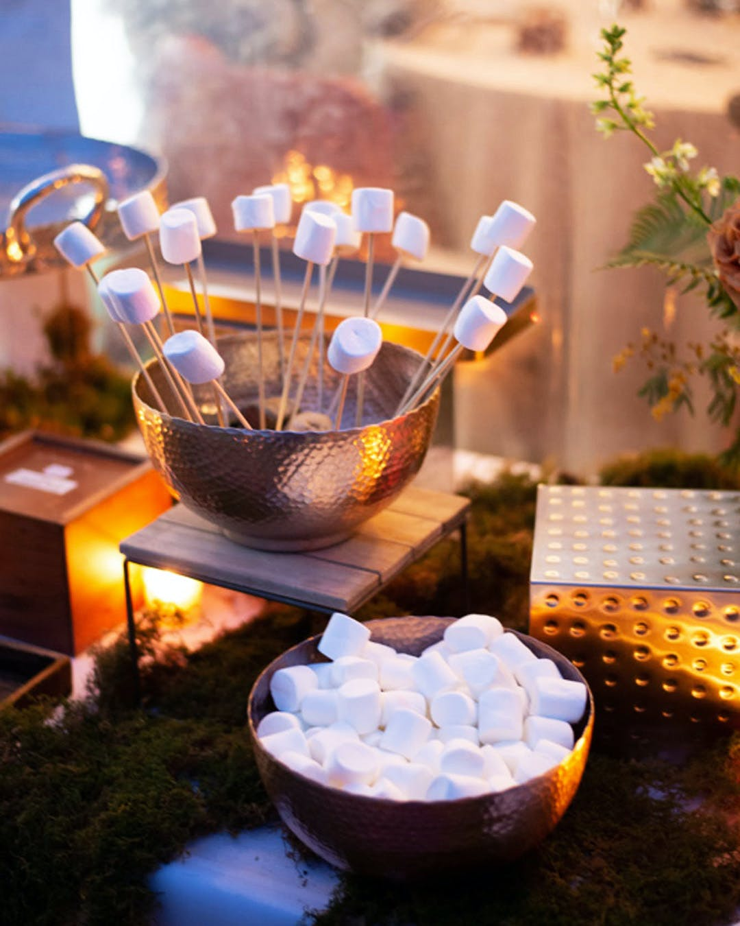 S'more station at engagement party | PartySlate